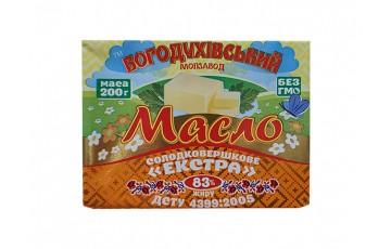 packaged butter 83% 200g Bogoduhov