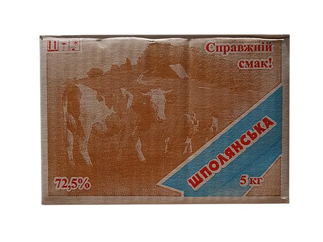 butter monolith 72.5% 5 kg Шпола