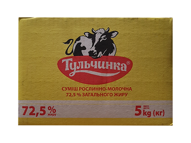 butter monolith 72.5% 5 kg Тульчинка