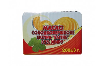 butter packaged Elite 83% 200g Полтавочка