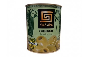 pitted olives 850g Ellada Colossal